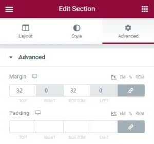 Elementor User Guide Row Margins